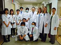 米国からの研修医学生との交流風景
